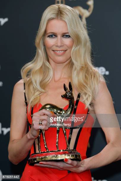 'Fashion' award winner Claudia Schiffer at the Bambi Awards 2017 winners board at Stage Theater on November 16 2017 in Berlin Germany