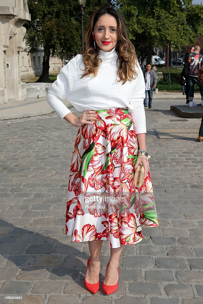 Fashion Bloger Erica From Brazil wears a Zara Top and Shoes on September 24 2014 in Paris France