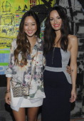 Fashion blogger Aimee Song and TV personality Catt Sadler attend Simply Stylist 2nd Annual Los Angeles Fashion And Beauty Event at Siren Studios on...