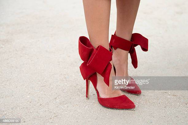 Fashion Blogger Aimee Song wears Aminah Abdul Jillil shoes on day 5 of Paris Collections Women on March 01 2014 in Paris France