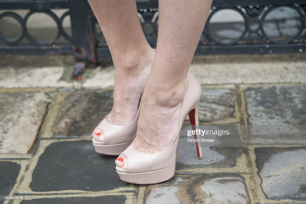 Fashion Blogger Alessia Maglia wearing Christian Louboutin shoes day 5 of Paris Haute Couture Fashion Week Autumn/Winter 2014 on July 10 2014 in...