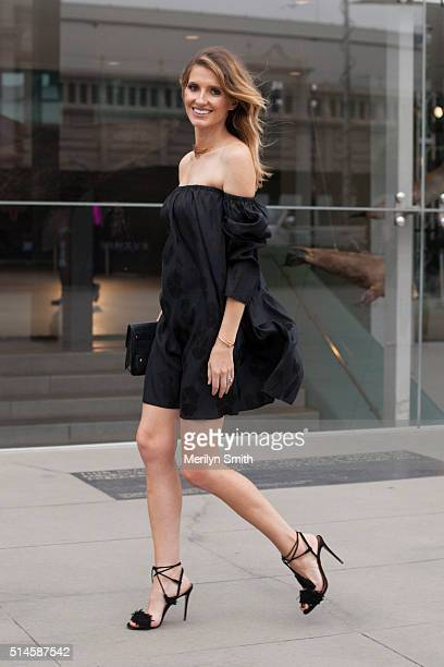 Fashion Blogger and TV Personality Kate Waterhouse wearing a Georgia Alice dress Aquazzura shoes and Proenza Schouler bag during the 2016 Melbourne...