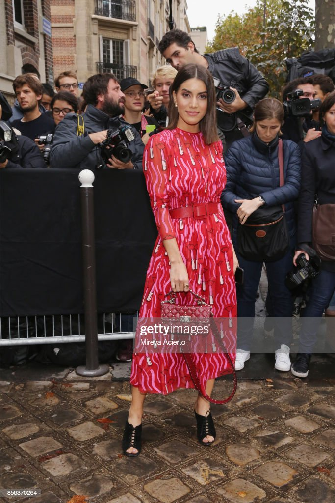 Fashion blogger, Camila Coelho, attends the Valentino show as part of the Paris Fashion Week Womenswear Spring/Summer 2018 on October 1, 2017 in Paris, France.