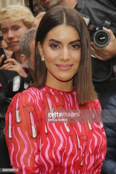 Fashion blogger Camila Coelho attends the Valentino show as part of the Paris Fashion Week Womenswear Spring/Summer 2018 on October 1 2017 in Paris...