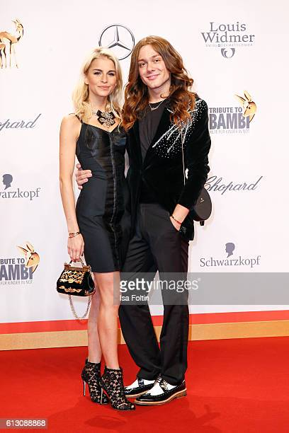 Fashion blogger Caro Daur and blogger and influencer Riccardo Simonetti attend the Tribute To Bambi at Station on October 6 2016 in Berlin Germany