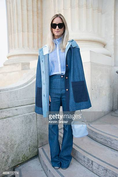 Fashion blogger Charlotte Groeneveld at the Chloe show on day 6 of Paris Collections Women on March 08 2015 in Paris France