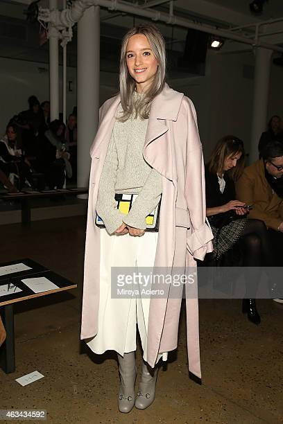 Fashion blogger Charlotte Groeneveld attends Dion Lee during MADE Fashion Week Fall 2015 at Milk Studios on February 14 2015 in New York City