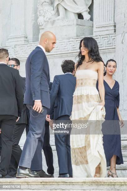 Fashion blogger Chiara Biasi and Italian professional footballer Simone Zaza arrive to the wedding of Spanish professional footballer Alvaro Morata...