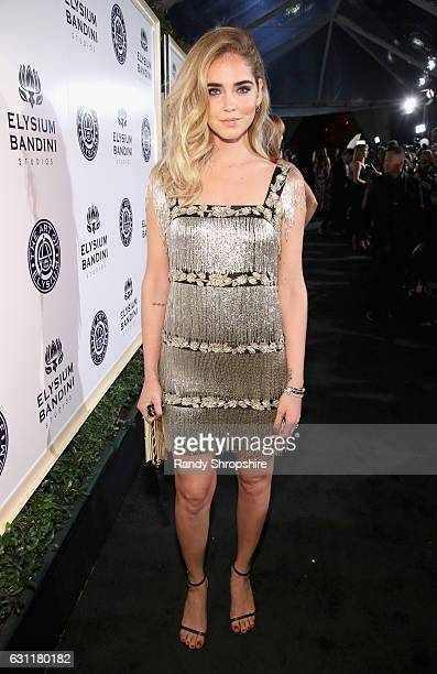 Fashion blogger Chiara Ferragni attends The Art of Elysium presents Stevie Wonder's HEAVEN Celebrating the 10th Anniversary at Red Studios on January...