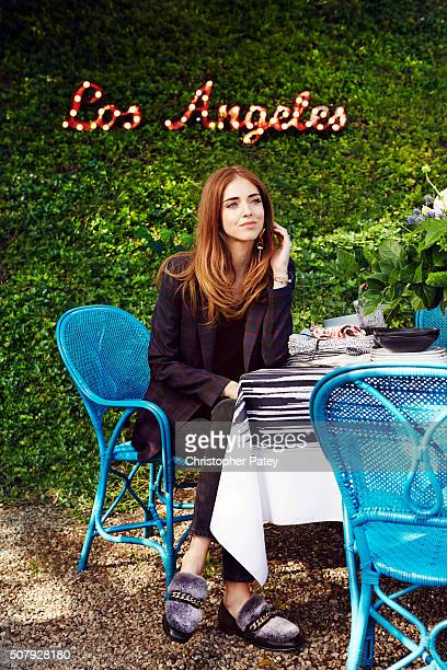 Fashion blogger Chiara Ferragni is photographed at her home for Domaine Home on February 6 2015 in Los Angeles CaliforniaPublished Image