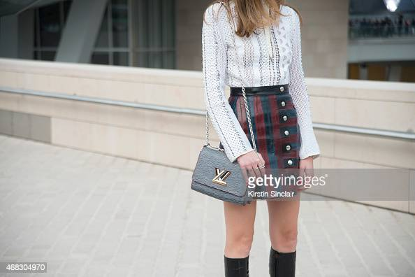 Fashion Blogger Chiara Ferragni wears all Louis Vuitton on day 9 of Paris Collections Women on March 11 2015 in Paris France