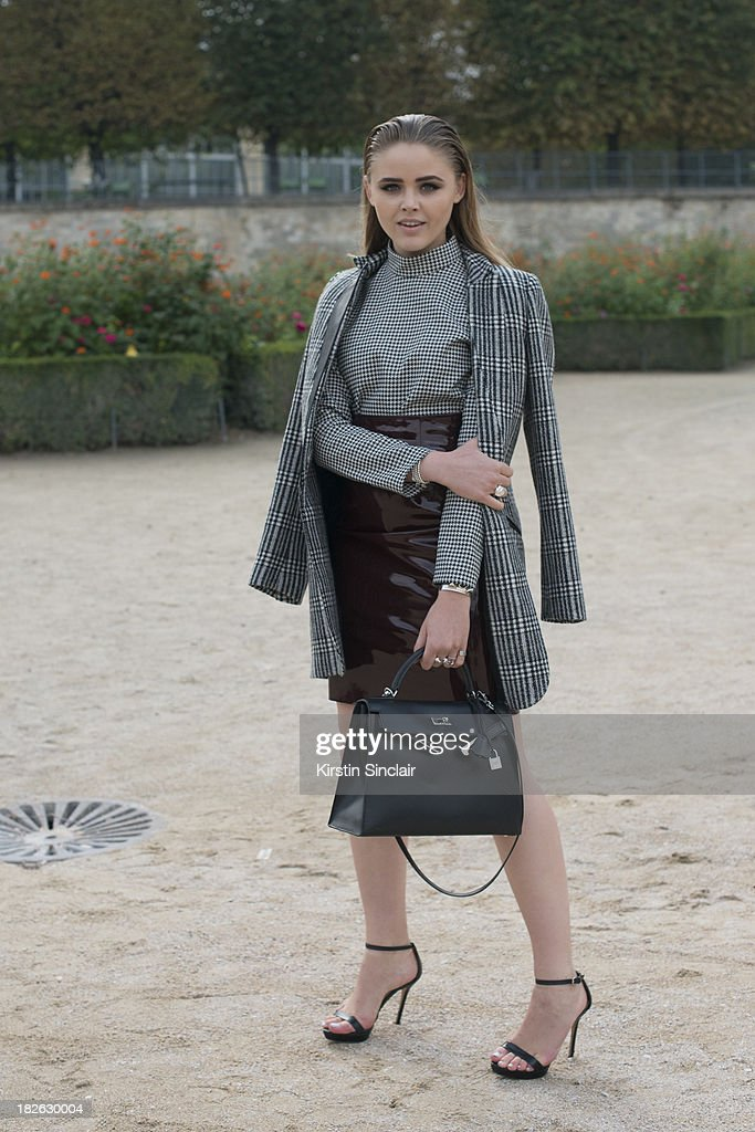 Fashion blogger Christina Bazan on day 7 of Paris Fashion Week Spring/Summer 2014, Paris September 30, 2013 in Paris, France.