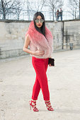 Fashion blogger Denni Elias wears Dior sunglasses on day 5 of Paris Collections Women on March 07 2015 in Paris France