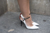 Fashion Blogger Elvira Abasova wears Jimmy Choo shoes day 4 of Paris Haute Couture Fashion Week Autumn/Winter 2014 on July 9 2014 in Paris France