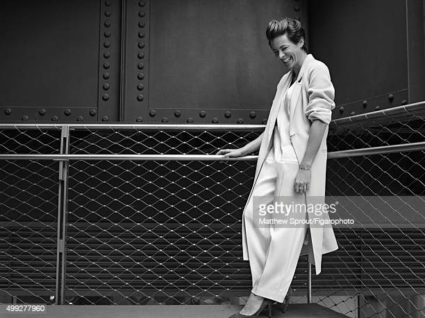 Fashion blogger Garance Dore is photographed for Madame Figaro on September 25 2015 in New York City Coat jumper shoes jewelry personal PUBLISHED...