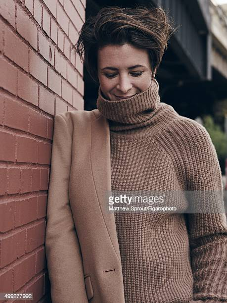 Fashion blogger Garance Dore is photographed for Madame Figaro on September 25 2015 in New York City Jacket sweater PUBLISHED IMAGE