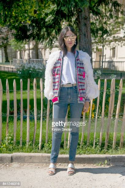Fashion blogger Gilda Ambrosio wears all Chanel day 3 of Paris Haute Couture Fashion Week Autumn/Winter 2017 on July 4 2017 in Paris France