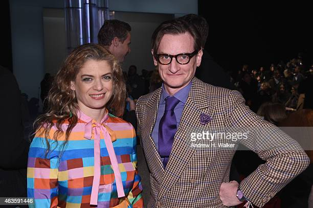 Fashion blogger Hamish Bowles attends during MercedesBenz Fashion Week Fall 2015 at Lincoln Center for the Performing Arts on February 16 2015 in New...
