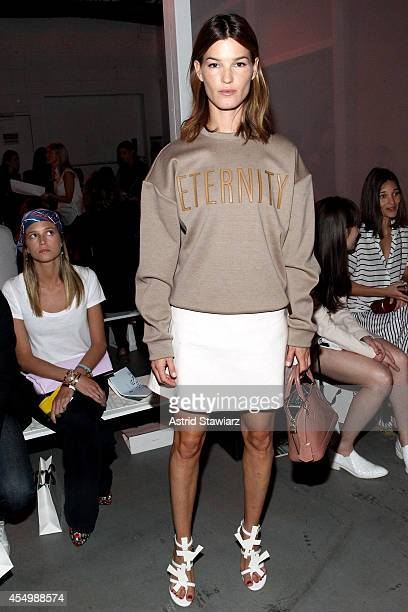 Fashion blogger Hanneli Mustaparta attends the 31 Philip Lim Spring Summer 2015 fashion show with TRESemme at Skylight Clarkson SQ on September 8...