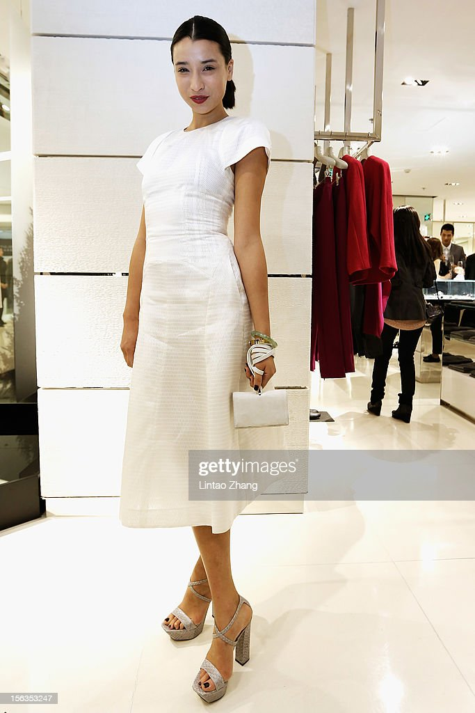 Fashion Blogger Hanneli Mustaparta poses for picture during the Fall 2012 Presentation at ck Calvin Klein store in Oriental Plaza on November 13, 2012 in Beijing, China.