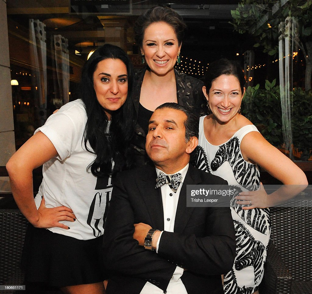 Fashion Blogger Hasti Kashfla, Designer Angelina Haole, Randy Zuckerberg and Franco Umo attend Santana Row Fall Fashion Show 2013 on September 14, 2013 in San Jose, California.