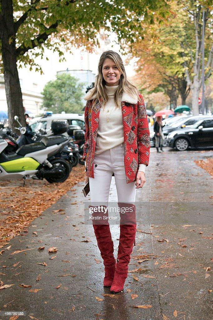 Fashion blogger Helena Bordon on day 7 during Paris Fashion Week Spring/Summer 2016/17 on October 5 2015 in Paris France Helena Bordon