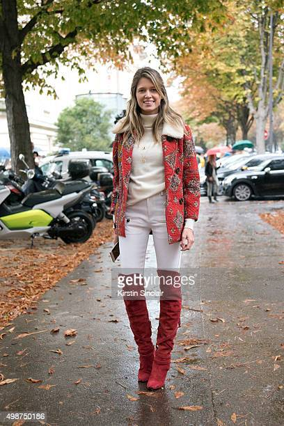 Fashion blogger Helena Bordon on day 7 during Paris Fashion Week Spring/Summer 2016/17 on October 5 2015 in Paris France Helena Bordon
