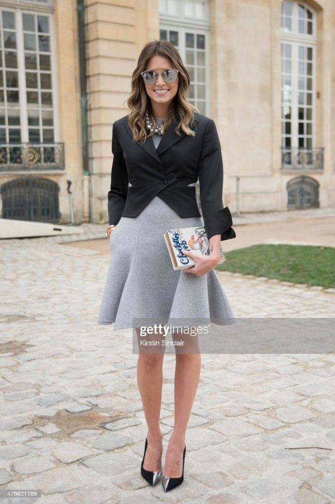 Fashion Blogger Helena Bordon wears a Charlotte Olympia bag on day 4 of Paris Collections: Women on February 28, 2014 in Paris, France.
