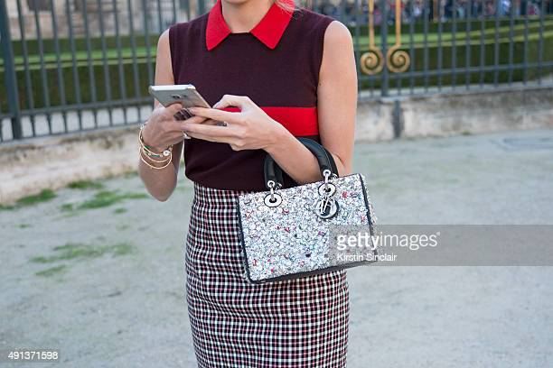 Fashion Blogger Helena Bordon wears all Dior on day 4 of Paris Collections Women on October 2 2015 in Paris France Helena Bordon