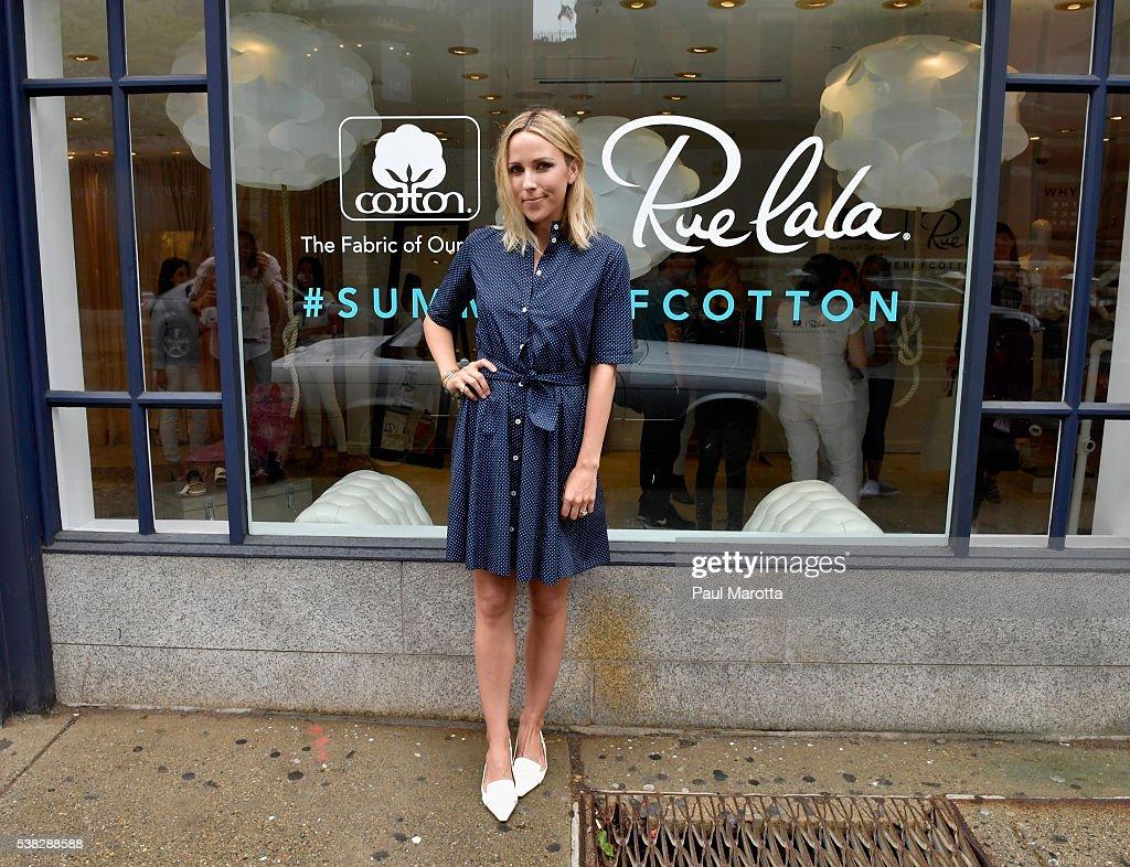 Fashion Blogger Jacey Duprie attends a Rue La La Summer Of Cotton Popup Shop event on June 5 2016 in Boston MA