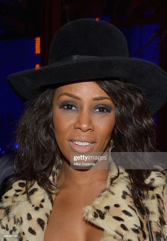 Fashion blogger June Ambrose attends the DirecTV Super Saturday Night at Pier 40 on February 1, 2014 in New York City.