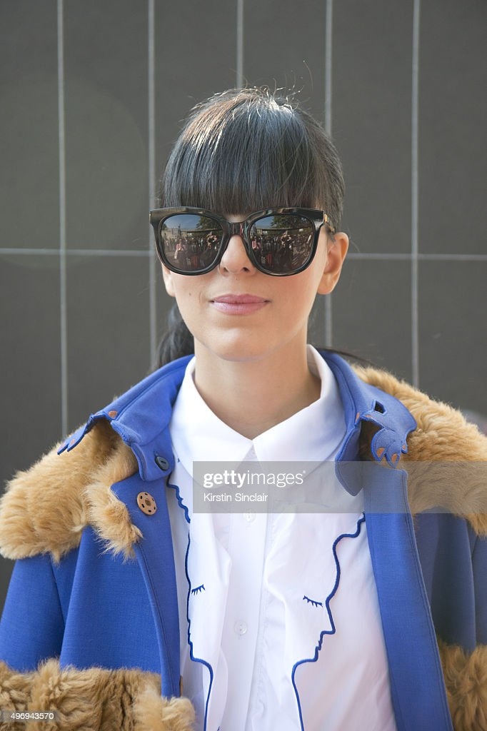 Fashion Blogger Laura Comolli wears all Jivetti Yves Saint Laurent bag and Gentle Monster sunglasses on day 6 during Paris Fashion Week Spring/Summer...