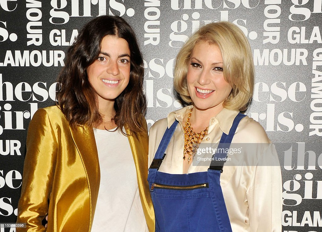 Fashion blogger Leandra Medine (L) and actress <a gi-track='captionPersonalityLinkClicked' href=/galleries/search?phrase=Ari+Graynor&family=editorial&specificpeople=653300 ng-click='$event.stopPropagation()'>Ari Graynor</a> attend Glamour Presents 'These Girls' at Joe's Pub on October 8, 2012 in New York City.