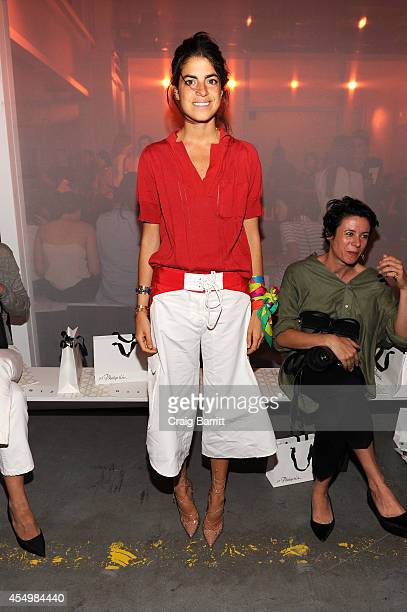 Fashion blogger Leandra Medine attends the 31 Phillip Lim fashion show during MercedesBenz Fashion Week Spring 2015 at Skylight Clarkson SQ on...