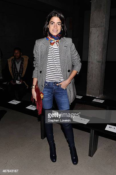Fashion blogger Leandra Medine attends the Sally LaPointe fashion show during MercedesBenz Fashion Week Fall 2014 at Skylight Modern on February 7...