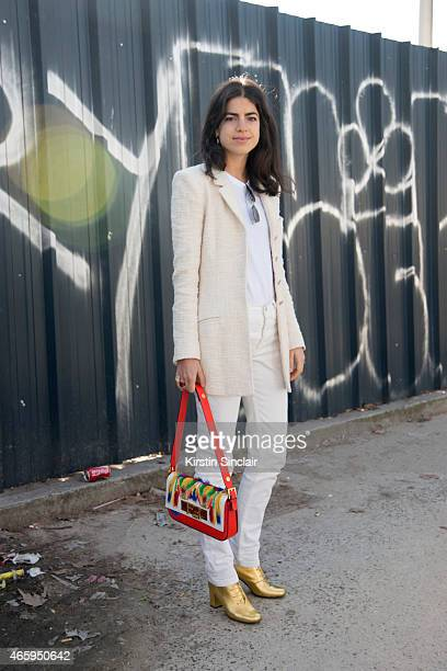 Fashion blogger Leandra Medine on day 6 of Paris Collections Women on March 08 2015 in Paris France