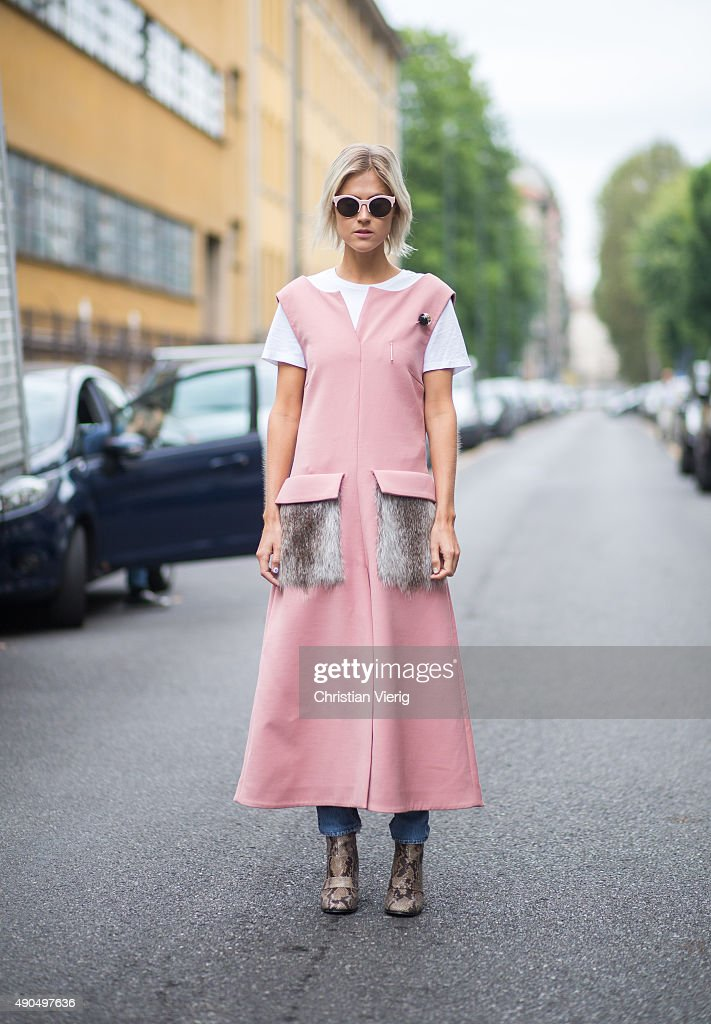 Fashion blogger Linda Tol wears Marni during Milan Fashion Week Spring/Summer 16 on September 27 2015 in Milan Italy