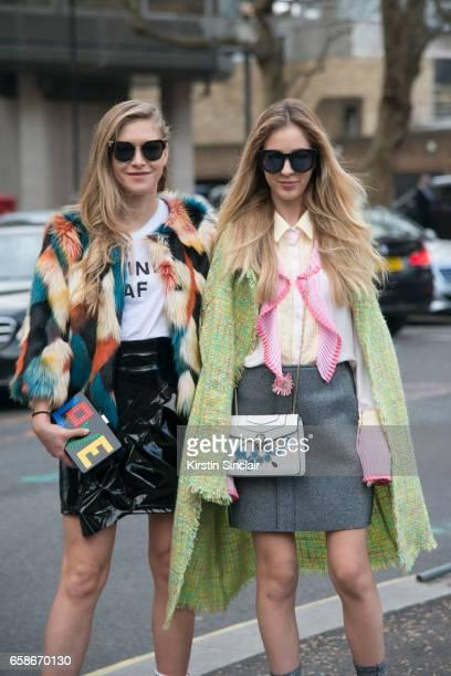 Fashion blogger Maja Malnar wears Les Petits Joueurs bag Jonathan Simkhai t shirt Fendi sunglasses and a Top Shop skirt and jacket with Fashion...