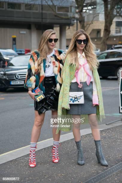 Fashion blogger Maja Malnar wears Oscar Tiye shoes Les Petits Joueurs bag Jonathan Simkhai t shirt Fendi sunglasses and a Top Shop skirt and jacket...