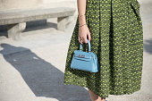 Fashion Blogger Margherita Rovelli wears An Italian Theory skirt her boyfriends shirt and Shenzhen Beone bag on day 5 during Paris Fashion Week...