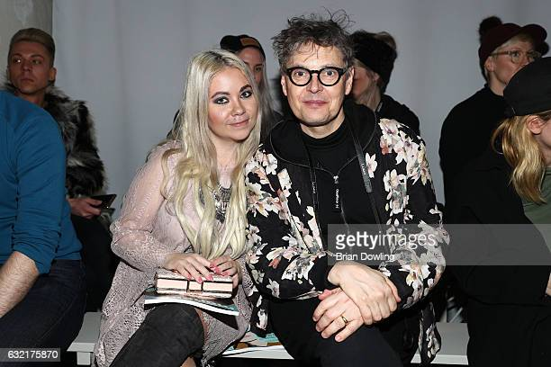 Fashion Blogger Nadine Trompka and Rolf Scheider attend the Atelier About show during the MercedesBenz Fashion Week Berlin A/W 2017 at Kaufhaus...