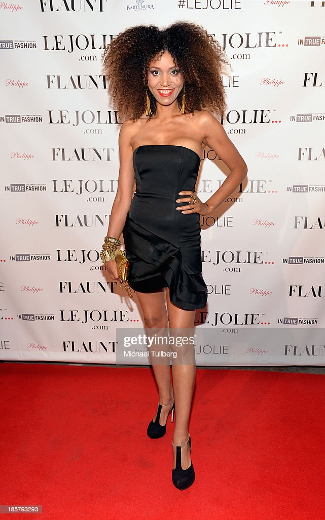 Fashion blogger Ndoema attends the LeJolie.com launch party at No Vacancy on October 24, 2013 in Los Angeles, California.