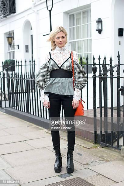 Fashion blogger Pandora Sykes on day 2 during London Fashion Week Autumn/Winter 2016/17 on February 20 2016 in London England