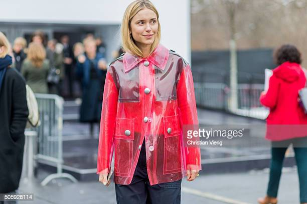 Fashion blogger Pernille Teisbaeck of Look de Pernille outside Dorothee Schumacher during the MercedesBenz Fashion Week Berlin Autumn/Winter 2016 at...
