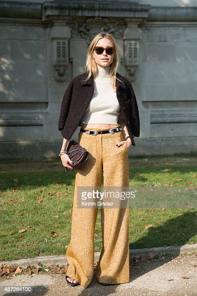 Fashion Blogger Pernille Tiesbiek is wearing all Chanel on day 8 of Paris Collections Women on September 30 2014 in Paris France