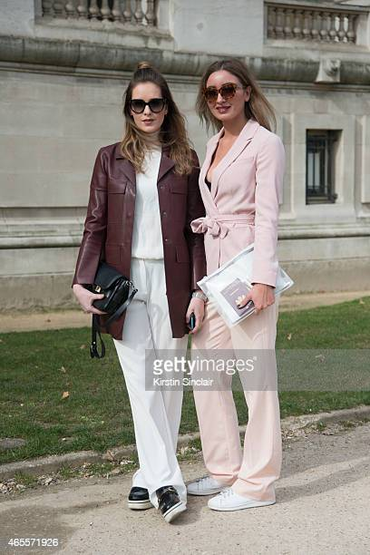 Fashion blogger Roos Van Dorsten wears Prada sunglasses Mango trousers Zara jacket Proenza Schouler bag and Stella McCartney shoes With Fashion...