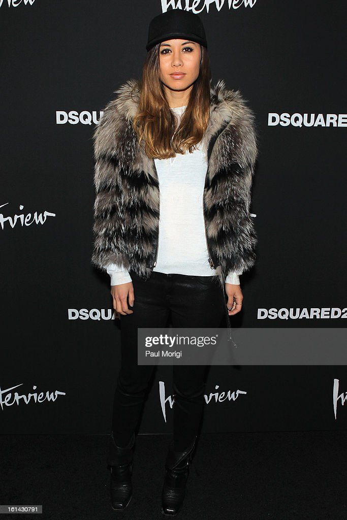 Fashion blogger Rumi Neely arrives to DSquared2 and Interview Magazine's premiere screening of 'Behind The Mirror': Spring Summer 2013 Campaign at Copacabana on February 10, 2013 in New York City.