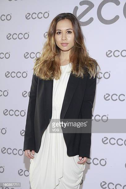 Fashion blogger Rumi Neely attends ECCO promotional event at Madam Sixty Ate on January 29 2013 in Hong Kong Hong Kong