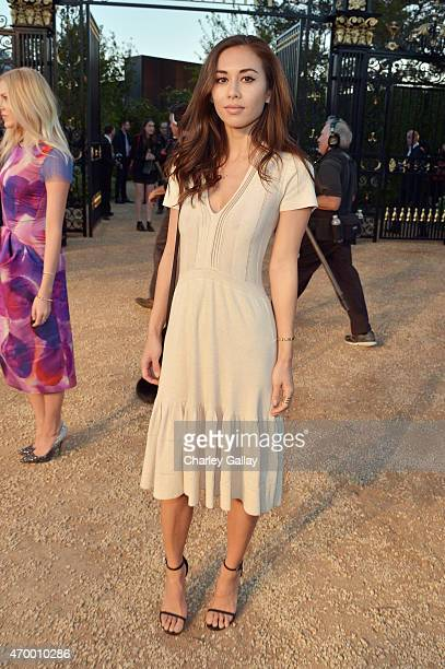 Fashion blogger Rumi Neely attends the Burberry 'London in Los Angeles' event at Griffith Observatory on April 16 2015 in Los Angeles California