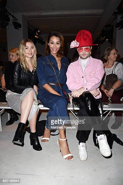 Fashion Blogger Samira Pari Roehi and Jack Strify attend the Sadak show during the MercedesBenz Fashion Week Berlin A/W 2017 at Kaufhaus Jandorf on...